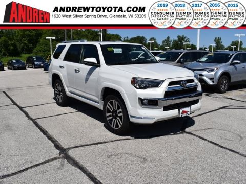 Stock #: 38313 White 2019 Toyota 4Runner Limited 4D Sport Utility in Milwaukee, Wisconsin 53209
