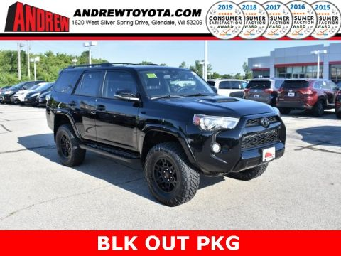 Stock #: 38185 Black 2019 Toyota 4Runner TRD Off-Road Premium 4D Sport Utility in Milwaukee, Wisconsin 53209