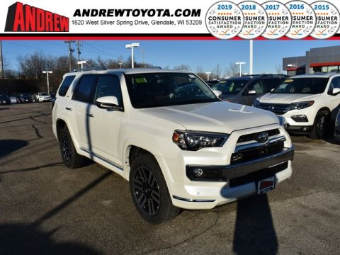 Stock #: 37442 White 2019 Toyota 4Runner Limited 4D Sport Utility in Milwaukee, Wisconsin 53209