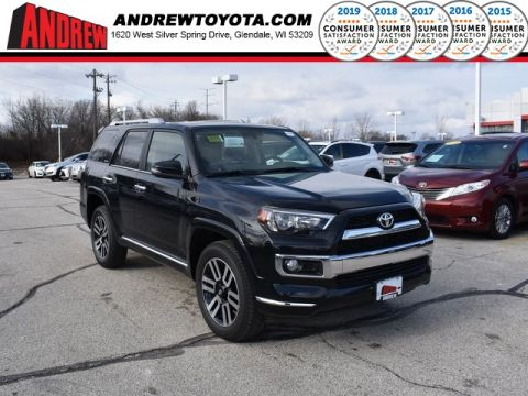 Stock #: 37444 Black 2019 Toyota 4Runner Limited 4D Sport Utility in Milwaukee, Wisconsin 53209
