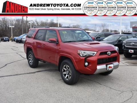 Stock #: 37861 Red 2019 Toyota 4Runner TRD Off-Road Premium 4D Sport Utility in Milwaukee, Wisconsin 53209