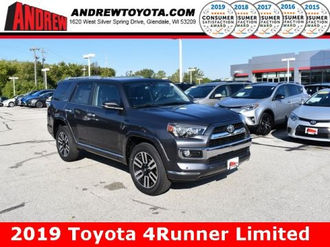 Stock #: 38674 Gray 2019 Toyota 4Runner Limited 4D Sport Utility in Milwaukee, Wisconsin 53209