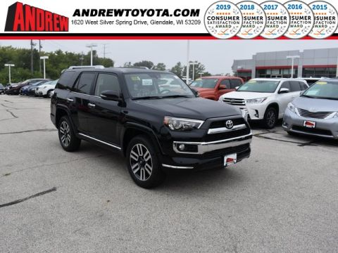 Stock #: 38563 Black 2019 Toyota 4Runner Limited 4D Sport Utility in Milwaukee, Wisconsin 53209