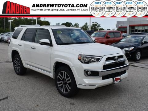Stock #: 38609 White 2019 Toyota 4Runner Limited 4D Sport Utility in Milwaukee, Wisconsin 53209