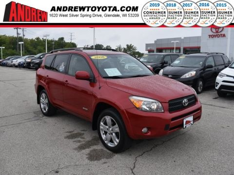 Stock #: 38549A Red 2008 Toyota RAV4 Sport 4D Sport Utility in Milwaukee, Wisconsin 53209