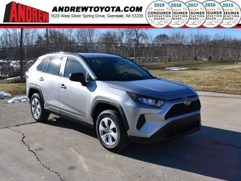 Stock #: 39056 Silver Sky Metallic 2020 Toyota RAV4 LE 4D Sport Utility in Milwaukee, Wisconsin 53209