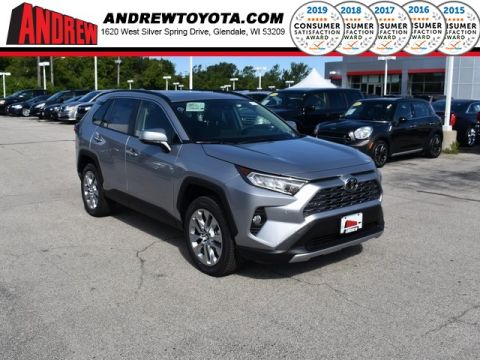 Stock #: 38494 Silver Sky Metallic 2019 Toyota RAV4 Limited 4D Sport Utility in Milwaukee, Wisconsin 53209