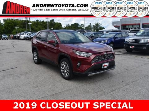 Stock #: 38491 Red 2019 Toyota RAV4 Limited 4D Sport Utility in Milwaukee, Wisconsin 53209