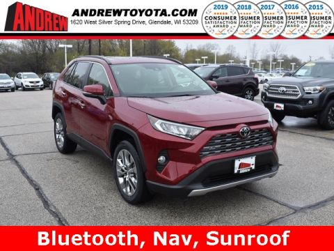Stock #: 37854 Red 2019 Toyota RAV4 Limited 4D Sport Utility in Milwaukee, Wisconsin 53209