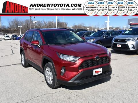 Stock #: 37601 Red 2019 Toyota RAV4 XLE 4D Sport Utility in Milwaukee, Wisconsin 53209