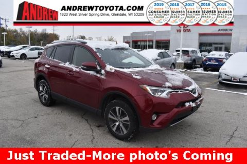Stock #: 38660A RED MC. 2018 Toyota RAV4 XLE 4D Sport Utility in Milwaukee, Wisconsin 53209
